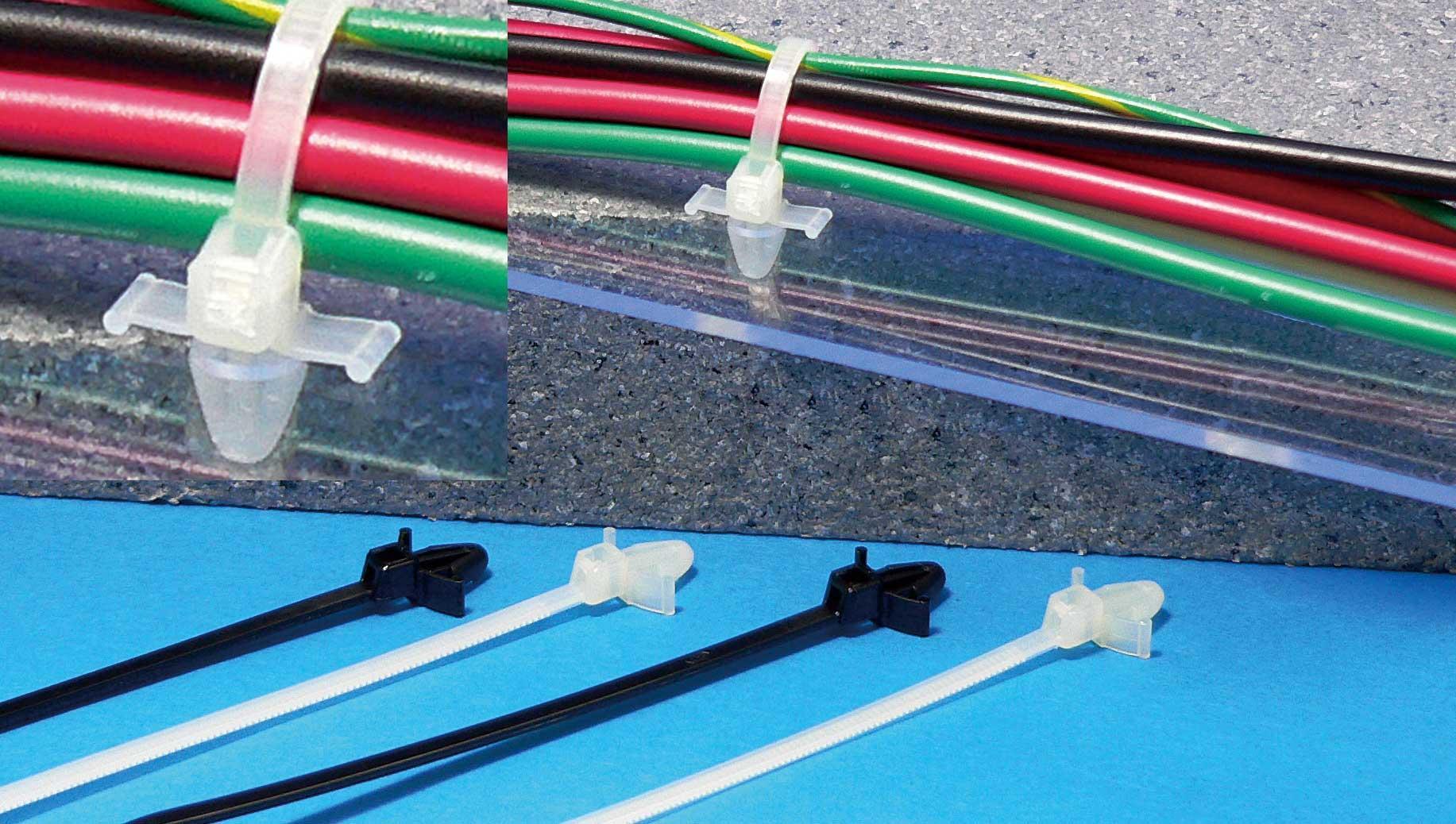 結束バンド   プッシュタイ(取付穴径φ4.8mm)押込固定タイプ